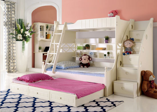 China Korean Style Solid Wood Bunk Bed For Children Bedroom Furniture 9001 China Kids Furniture Children Furniture