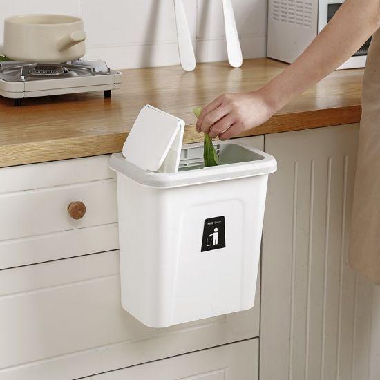 7l compost plastic waste bin for