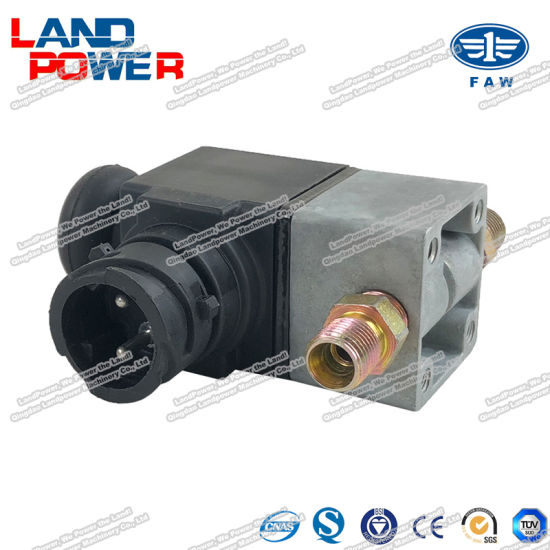 original faw 3754020 50a exhaust brake solenoid valve truck spare parts with sgs certification for china faw heavy truck