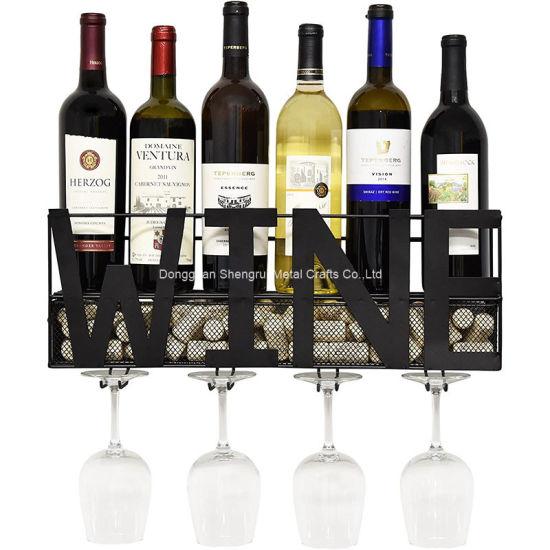 metal glass holder wine cork storage