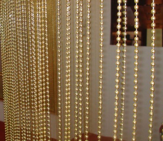 gold metal ball chain curtain for