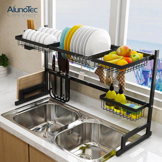 dish drying rack stainless steel with