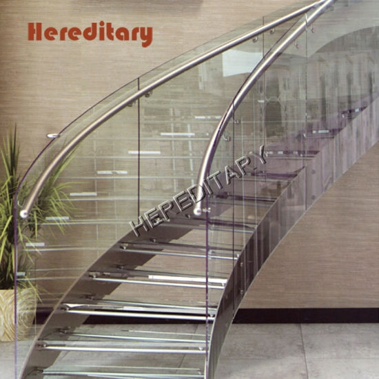 China Space Saving Staircase With Galvanized Steel Glass Railing   Glass And Chrome Banisters   Designer   Wooden Glass   Frosted Glass   Oak   Contemporary