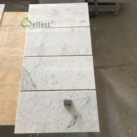 natural white carrara marble tile