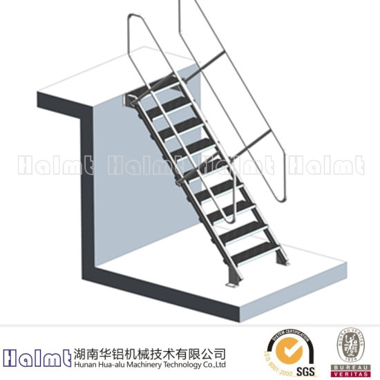 China Aluminum Fixed Access Step Ladder With Handrail China   Aluminum Steps With Handrail   Boat Dock   Wheelchair Ramp   Stair Treads   Folding   Stair System