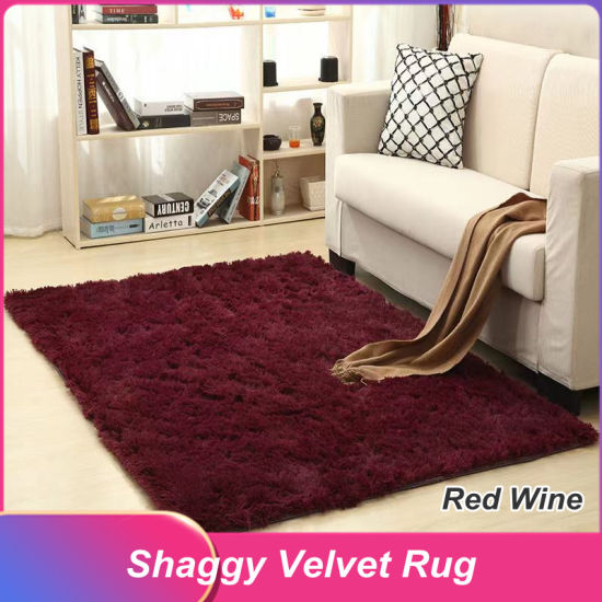 China Modern Plush Easy Care Thick Shaggy Carpet For Living Room Kids Bedroom China Shaggy Carpet And Pv Fleece Mat Price