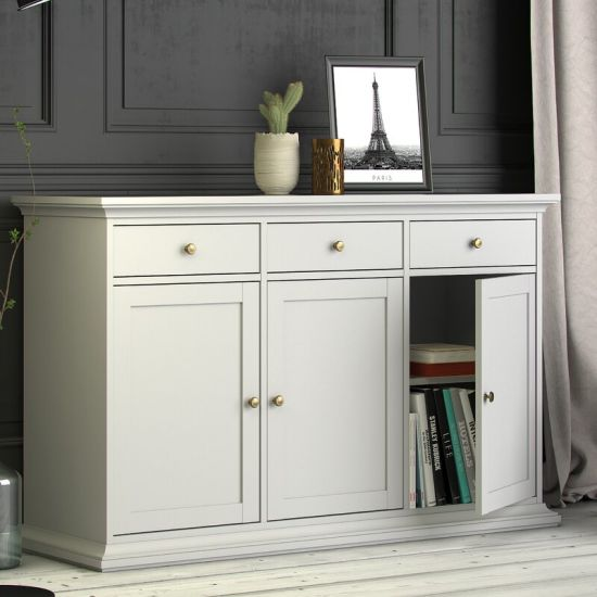 Modern Antique Furniture White Painting Accent Storage Cabinet Living Room Furniture With 3 Door 3 Drawer China Kitchen Cabinets Modern Kitchen Cabinet Made In China Com