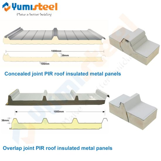 high density polyurethane pir pu pur insulated laminated sandwich panels for roof wall