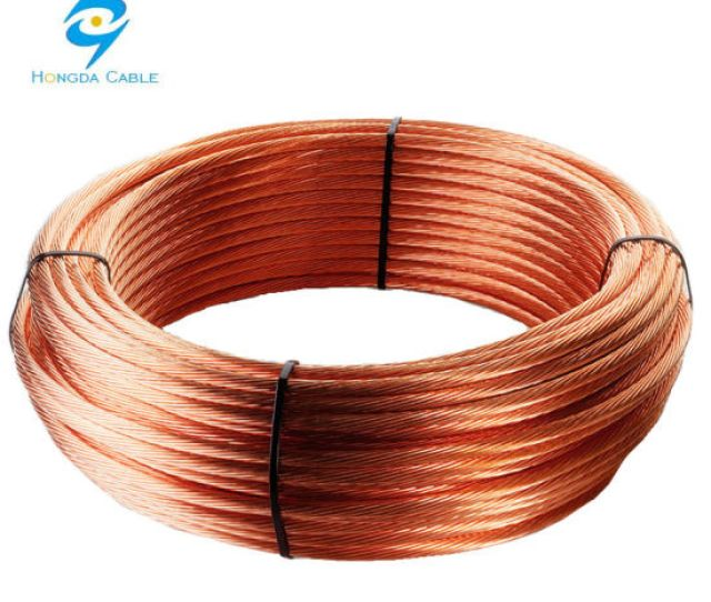 Earth Ground Wire Cable 35mmmm2 Bare Copper Conductor