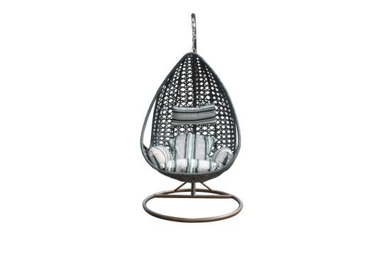 Leisure Outdoor Pe Rattan Swing Egg Chair For Garden China Outdoor Hanging Furniture With Cushion Patio Pe Wicker Swinging Iron Chair Made In China Com