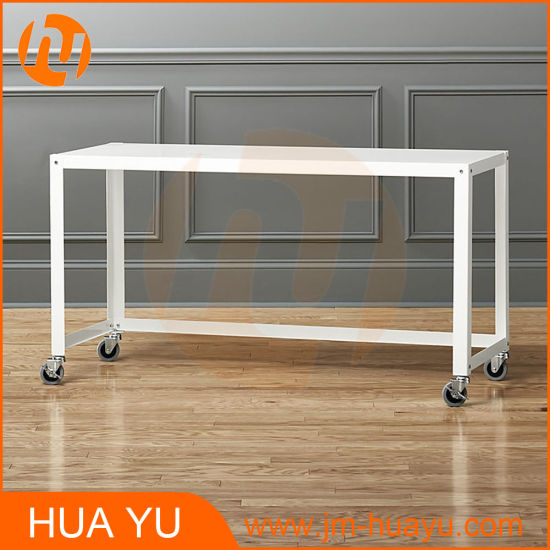 soho office furniture white metal rolling workbench console table pictures photos
