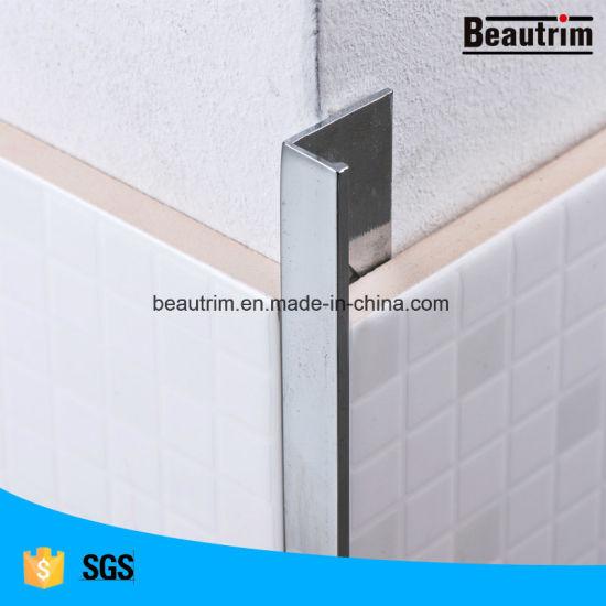 brass chrome plated finish tile trim
