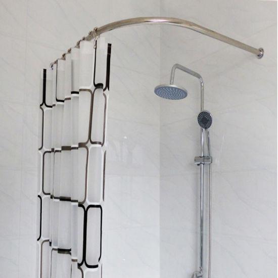 shower curtain rod peva shower curtain