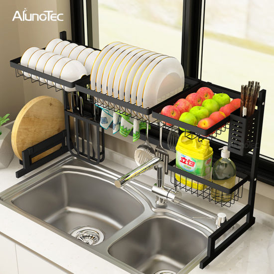 sink kitchen drying dish rack