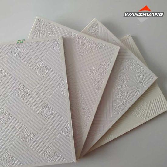 china pvc laminated gypsum ceiling