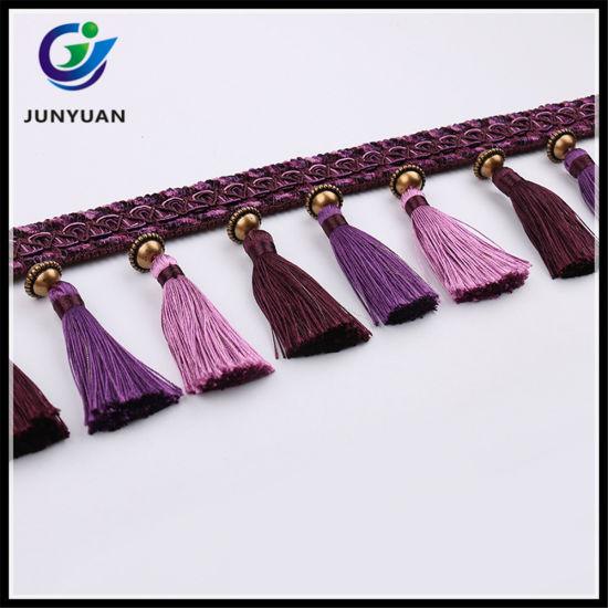 china fabric tassel fringe trims for