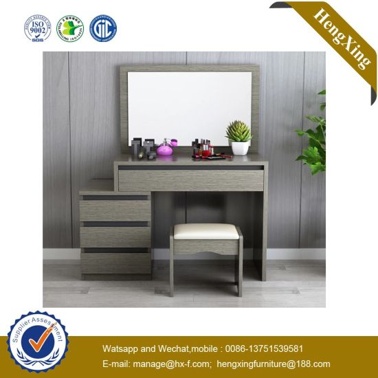 China Cheap Price Home Hotel Bedroom Furniture Set Table Cabinet Wooden Foldable Mirror Dressing Table China Dresser Dressing Table
