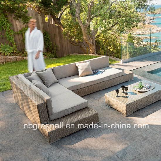 china l shape outdoor rattan wicker