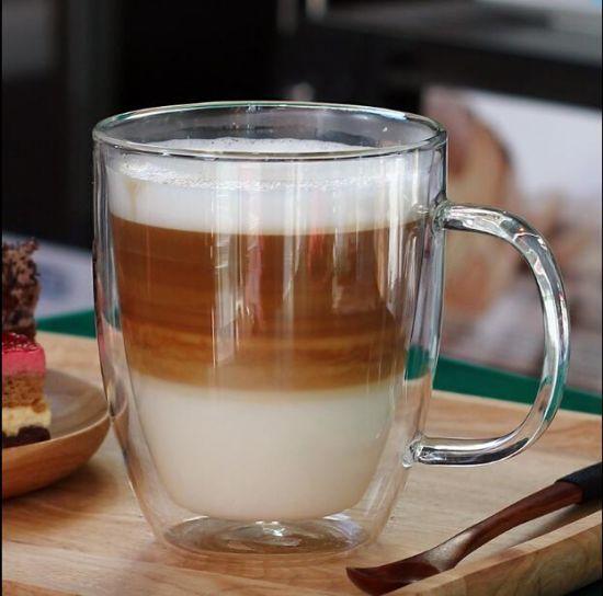 coffee mug and double wall glass mug