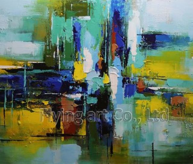 Abstract Oil Painting Reproduction With Acrylic