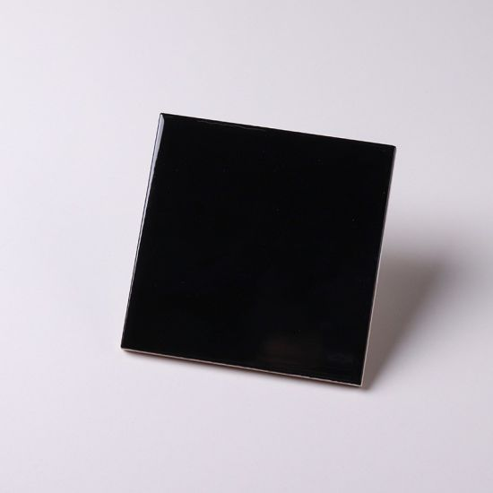 4x4 inch 10x10cm classic black ceramic subway tiles for interior wall