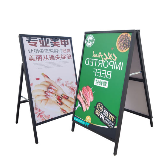 premium poster board stand display black double sided holder metal sign frame a frame a board