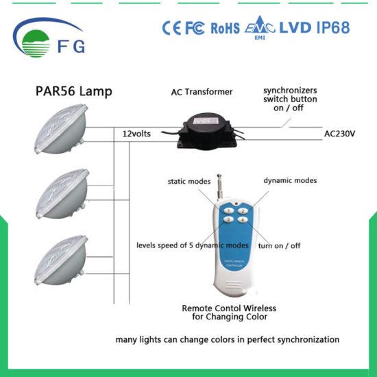 china color changing led swimming pool lights bulb led par56