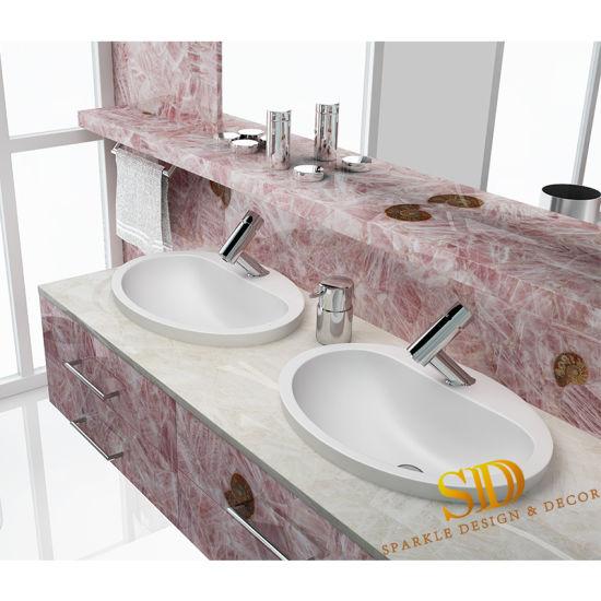 china sweet gemstone countertop custom