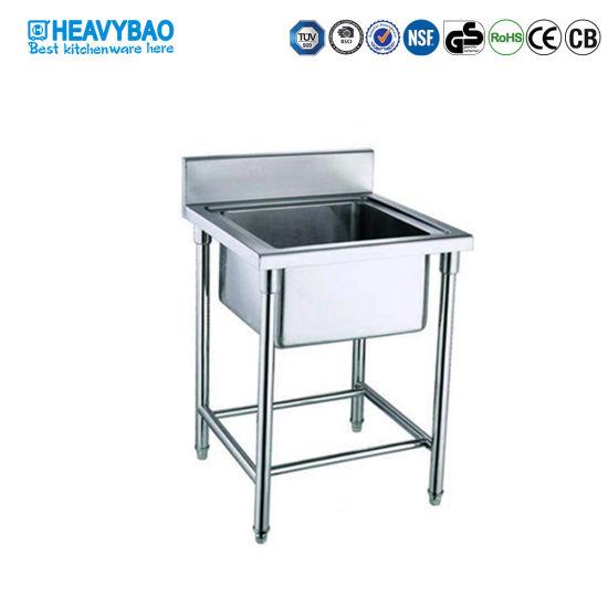 heavybao stainless steel single bowl custom made kitchen sinks washing basin sinks