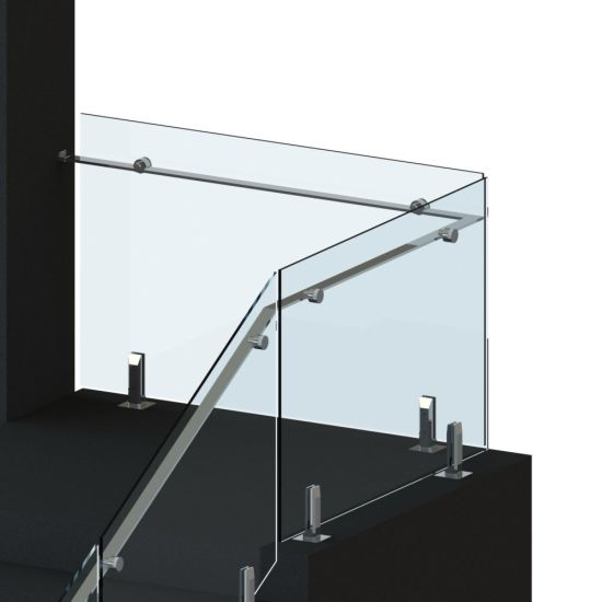 China Balcony Spigot Glass Balustrade Glass Stair Railing Cost | Cost Of Glass Balustrade Stairs | Wood | Side Clamp | Steel Bracket | Spiral Staircase | Stainless Steel