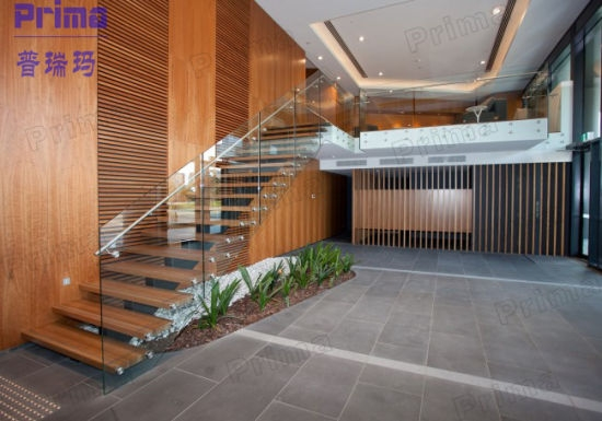 China Prefabricated Glass Wood Floating Stairs Prices Glass | Glass Banisters For Stairs Price | Floating Staircase | Railing | Stair Railing Systems | Stainless Steel | Stair Case