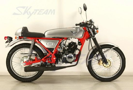 Skyteam Cafe Racer Motorcycle Vintage