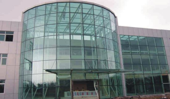 Commercial Building Insulated Frameless Glass Curtain Wall