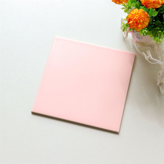 pink color 20x20 matte finish ceramic bathroom tile for wall and floor