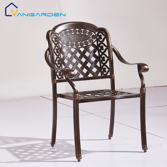 metal cast aluminum patio chairs