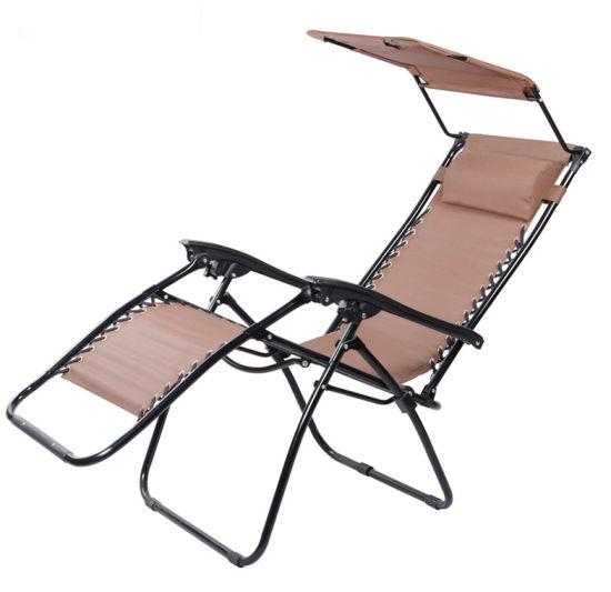 chine pliage en acier chaise longue