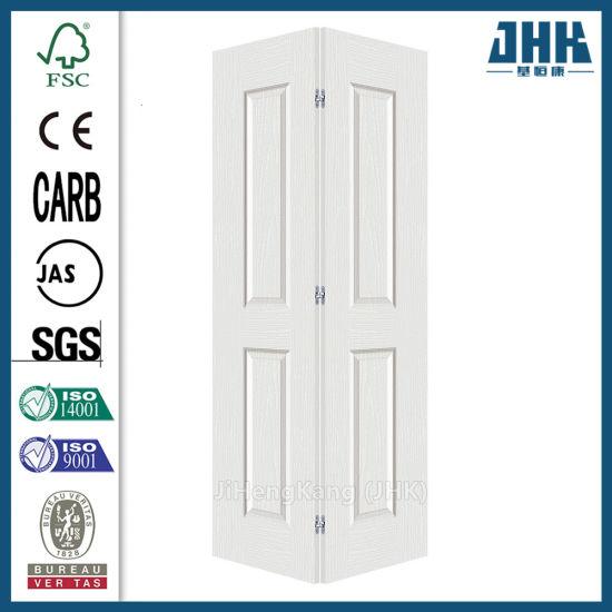 Chine Double Blanc Bi Folding Interieur Porte Pliante En Bois Jhk B03 Acheter Les Portes De Repliage Bi Sur Fr Made In China Com