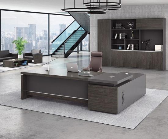 bureau moderne en bois grand bureau