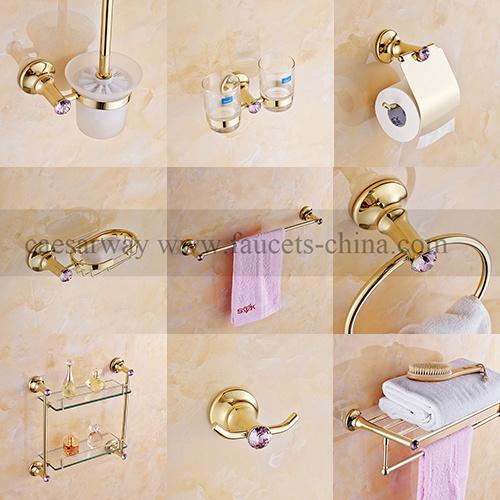 accessoires de salle de bain de zinc