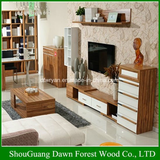 salon moderne en bois simple armoire tv