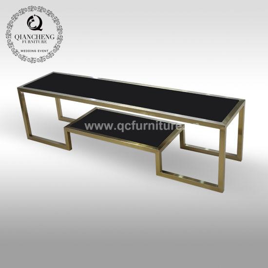 chine meuble tv en acier inoxydable