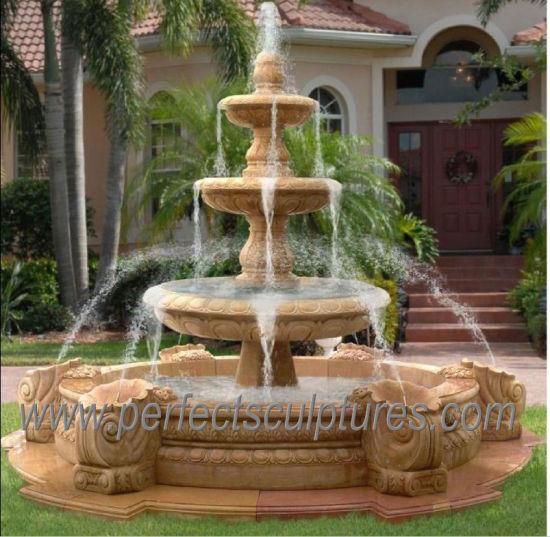 trois niveaux de pierre fontaine
