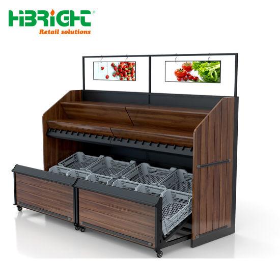 chine etagere en bois pour les legumes