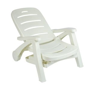 China 5 Position Backrest Adjustable Plastic Outdoor Patio Chaise Lounge Chair With Wheels Armrest