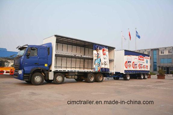china cimc curtain side trailer truck