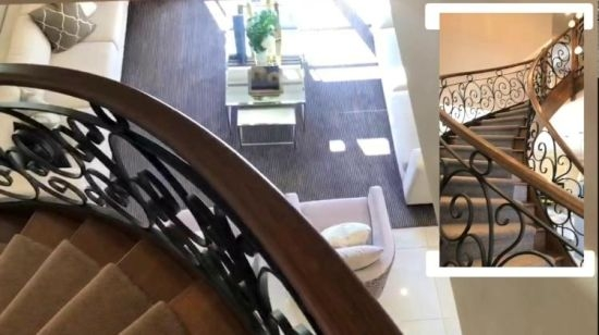 China Classic Wrought Iron Stairs Railing Curved Staircase With | Wrought Iron Handrail For Steps | Aluminum | Simple | Front Door Step | Forged Iron | Custom