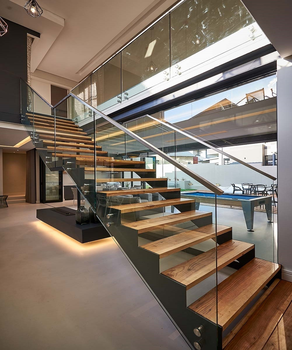 Idl Wood Stairs Australian Style Metal Stairs Straight Stairs | Glass For Stairs Price | Laminated Glass | Stairwell | Glazed | Outdoor | Toughened