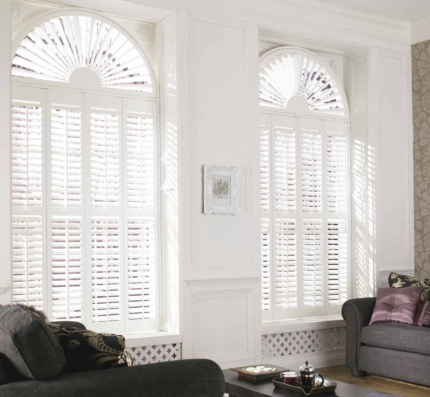 Hot Item Custom Arched Windows Blinds Window Shutters
