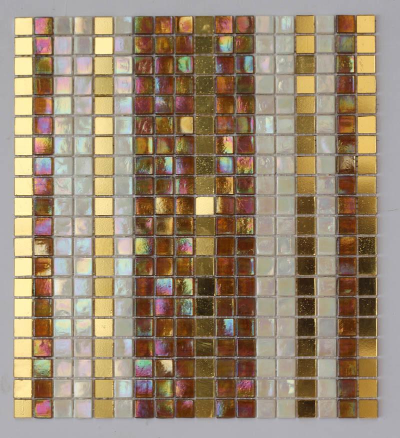 china iridescent mosaic mix gold mosaic