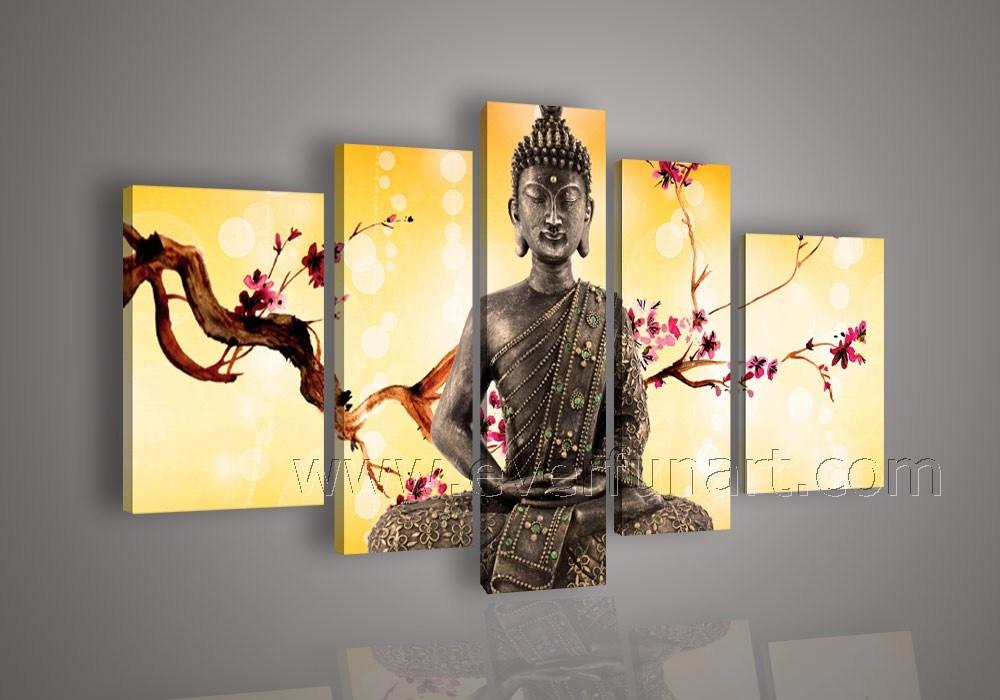 China Framed Buddha Paintings On Canvas Wall Art (BU-005